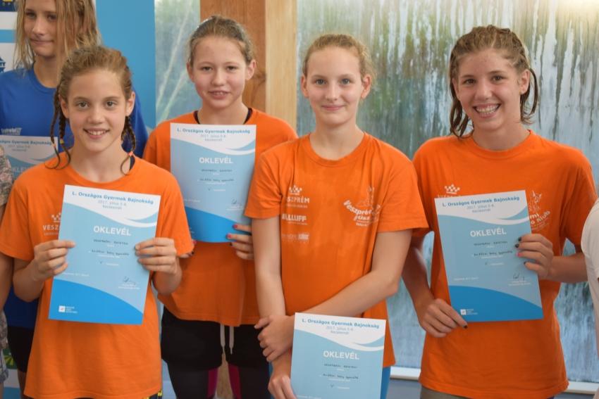 Országos Gyermek Bajnokság - 4x100m gyorsváltó, 5. hely