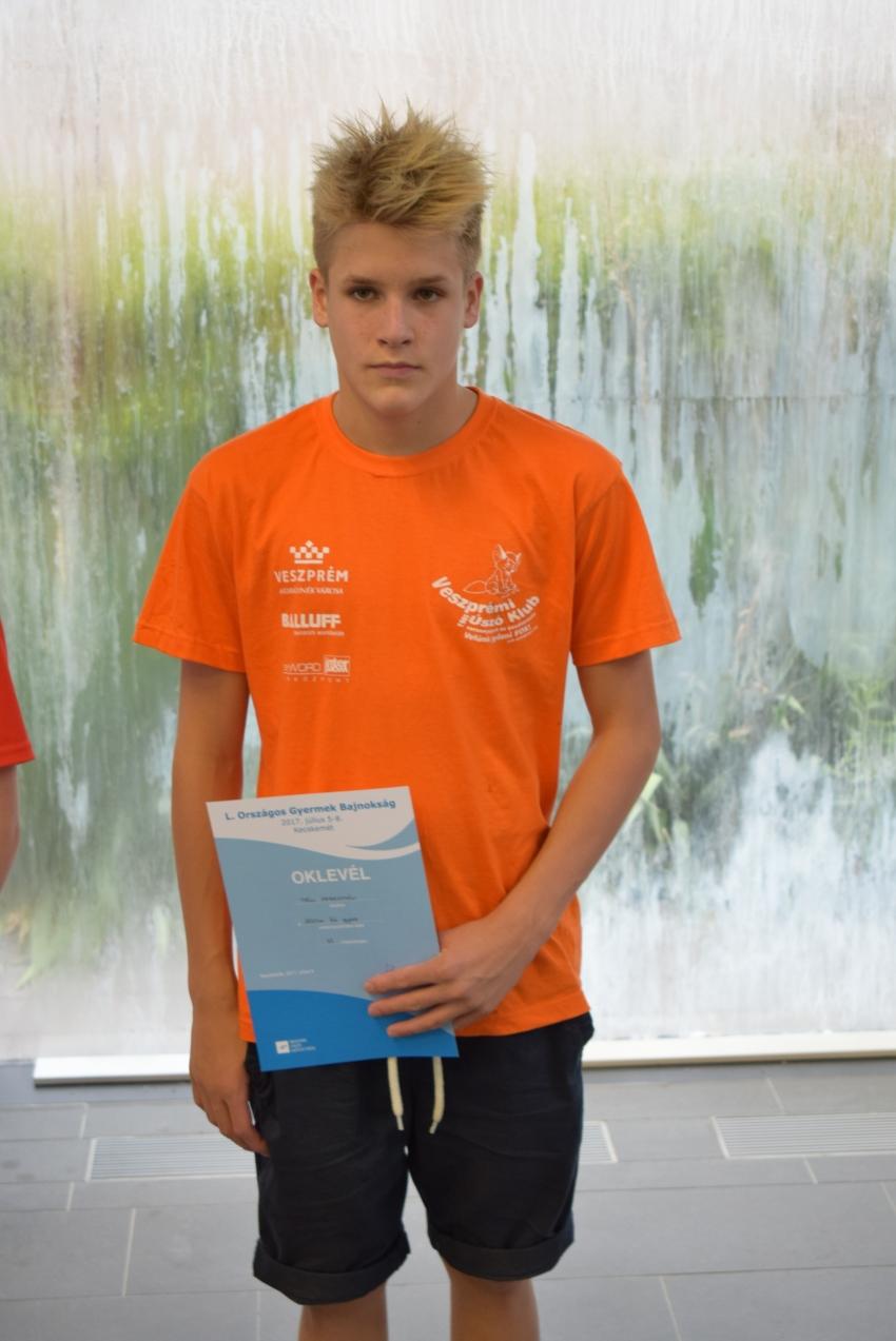 Országos Gyermek Bajnokság - Páll Sebestyén, 1500m gyors, 6.hely